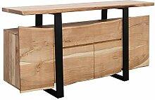 FineBuy Sideboard Akazie Kommode Massiv Holz