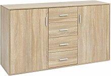 FineBuy Sideboard FB14662 Sonoma 138x82,5x40 cm