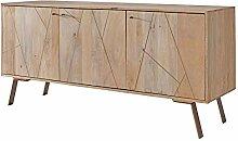 FineBuy Sideboard FB51411 Mango Massivholz
