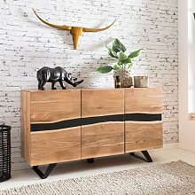 FineBuy Sideboard Massivholz Akazie 150 cm
