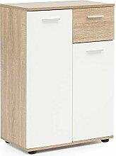 FineBuy Sideboard mit 2 Türen & Schublade