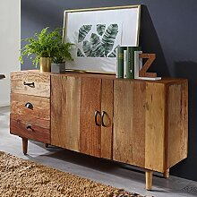 FineBuy Sideboard NAMI 138x69x40 cm Massivholz