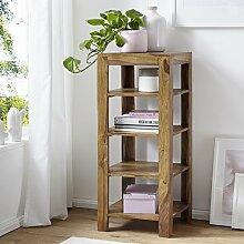 FineBuy Standregal Massiv-Holz Sheesham 105 cm