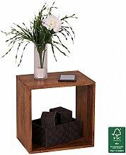 FineBuy Standregal Massivholz Sheesham 43,5 cm