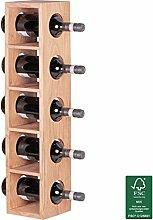 FineBuy Weinregal Massiv-Holz Flaschen-Regal