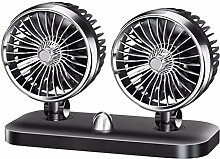 Finebuying Universal Dual Head Auto Ventilator 12V