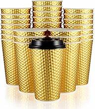 Fineiva Einweg-Kaffeebecher (Gold)