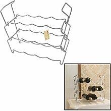 Finether 3-Tier Weinregale Weinflaschenregal Handtuchlager Freie stehende Metall Regal für 12 Flaschen Überzug