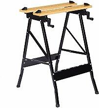 Finether universeller Spanntisch klappbar Arbeitstisch flexible Werkbank Werktisch mit Arbeitsfläche 56x20cm | Werkstatttisch bis 150kg belastbar