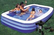 FiNeWaY Aufblasbares Schwimmbecken, Planschbecken,