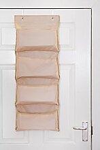 FiNeWaY Hängeaufbewahrung für Tür, 4Fächer,