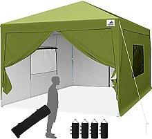 Finfree Pavillon 3x3 Faltbar Faltpavillon mit 4
