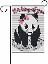fingww Decor Flag Nettes Panda Tier Außerhalb Hof