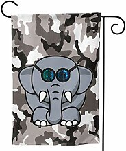 fingww Fahne Elefant Mit Brille Galaxie