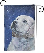 fingww Garten Flagge Golden Retriever Art Cute Pop