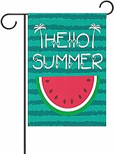 fingww Yard Banner Hallo Sommer Wassermelonengrün