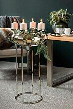 Fink Kerzenständer ANELLO H: 70 cm silberfarben