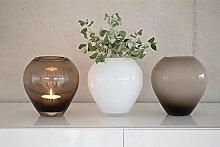 Fink Livia/Vase,Glas,Weiss Opal/H.18cm,D.16cm