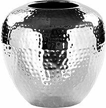 Fink LOSONE Vase aus Edelstahl, Silber, 20 x 20 x