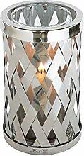 Fink Otis Windlicht mit Glas Edelstahl Glas