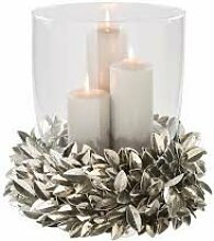 Fink Windlicht Laurel mit Glas vernickelt Höhe