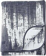 Finlayson Patina Tagesdecke, Baumwolle, Dunkelblau/Weiß, 160x 260cm
