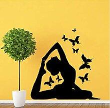 Finloveg Dekoration Yoga Haltung Wandkunst