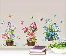 Finloveg Handgemalte Topf Wandaufkleber Blume
