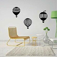 Finloveg Heißluftballon Cartoon Wandaufkleber