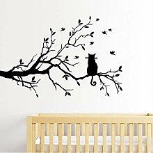 Finloveg In Einem Baum Sitzen Einsame Katze Vogels