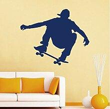 Finloveg Skateboarder Wandtattoos Removable Sport