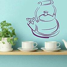 Finloveg Wandtattoos Teekanne Tee Zeit Küche Cafe
