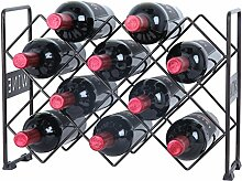 Finnhomy Weinregal 10 Bottle Wine Rack Brozen