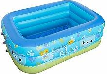 Finoki Aufblasbare Planschbecken Schwimmbecken Kind Familien Pool (150 * 105 * 55cm)
