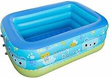 Finoki Aufblasbare Planschbecken Schwimmbecken Kind Familien Pool (130 * 92 * 52cm)