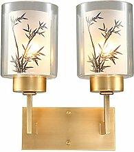 FIONADAN Die neue volle bronze Lampen Wandleuchten moderne, minimalistische Chinesischen Wohnzimmer Schlafzimmer Bett Beleuchtung Zubehör