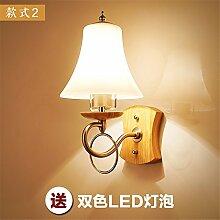 FIONADAN Nachttischlampe gang Treppe Schlafzimmer Schlafzimmer minimalistisch - Japan - China Nordic wood ART GLAS LED Wandleuchte