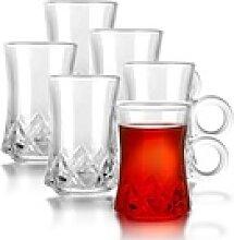 Fiora Teeglas Teeglas mit Henkel Espresso Glas