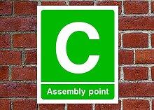 Fire Assembly Point C HSE Schild Gesundheit &