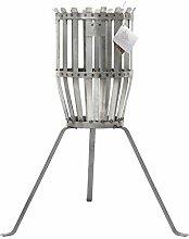 Fire Basket Feuerkorb Original, rost H 70cm Ø 28cm