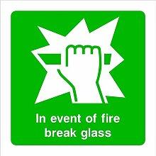 Fire Break Glass HSE Schild Gesundheit &