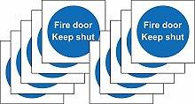 Fire Door Keep Shut Safety Signs-10Stück