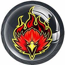 Fire Eagle Möbelknäufe aus ABS-Glas, rund, für