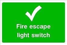 Fire Escape Light HSE Schild Gesundheit &