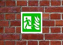 Fire Exit links HSE Schild Gesundheit & Sicherheit