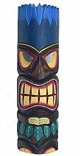 Fire Hair Tiki Maske 50cm im Hawaii Look Holzmaske
