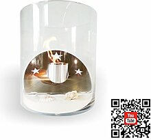 FireButler Glasfeuer Tischfeuer Ethanolkamin mit