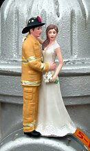 Firefighter Cake Topper - Tan by Magical Day