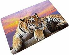 Firelife Tiger Tiere Fußmatte Gummi Türmatte