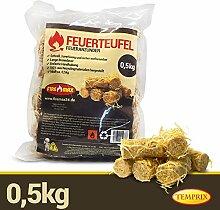 Firemax Feuerteufel 0,5 kg Kaminanzünder Feueranzünder Kamin Ofen Kaminofen